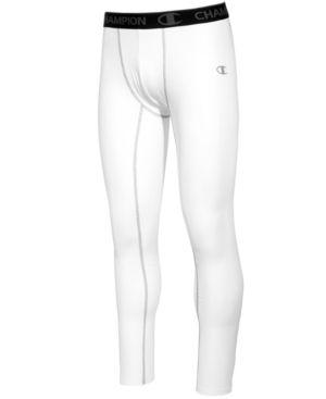 Champion Men's PowerFlex Compression Leggings - White 2XL