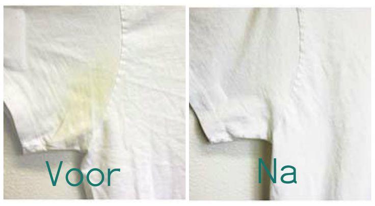 Met dit huismiddeltje krijg jij gele t-shirts weer stralend wit! Het werkt echt goed!