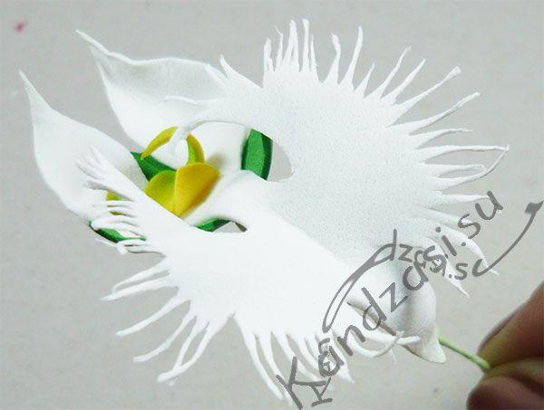 Орхидея Белая Цапля из фоамирана