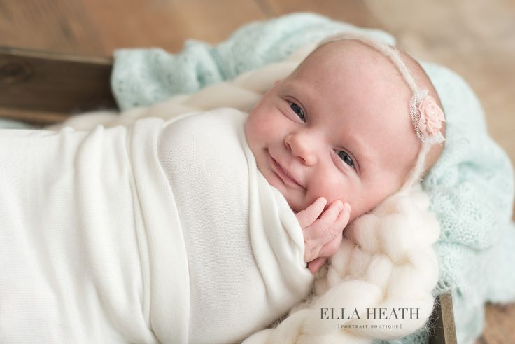 Adorable newborn baby smiling in the woodlands tx