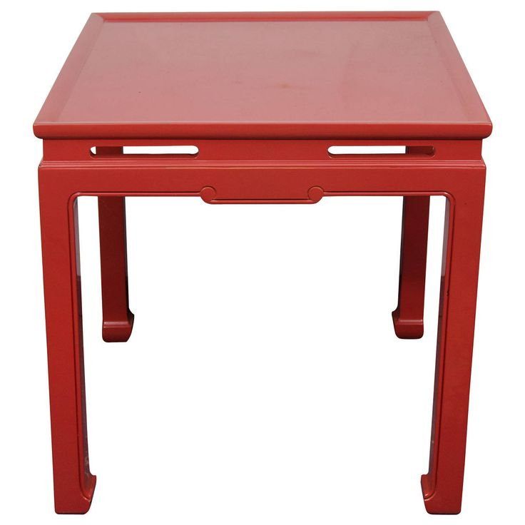 Chinese Red Custom Asian Style Games Table | From a unique collection of antique and modern game tables at https://www.1stdibs.com/furniture/tables/game-tables/