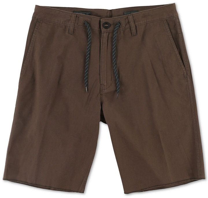 $29, O'Neill Freeman Twill Drawstring Shorts. Sold by Macy's. Click for more info: https://lookastic.com/men/shop_items/220199/redirect