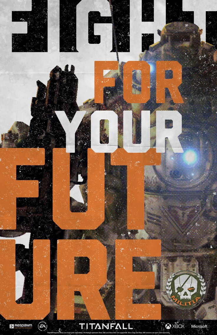 I'm recruiting my friends to Titanfall. You can too. Make your own poster and enlist today. http://pages.engage.xbox.com/Titanfall/RecruitmentCenter/MILITIA_v02-3_3
