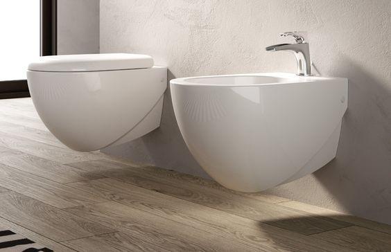 Hidra Ceramica Sanitari Sospesi Abc In Bianco Opaco Bagno