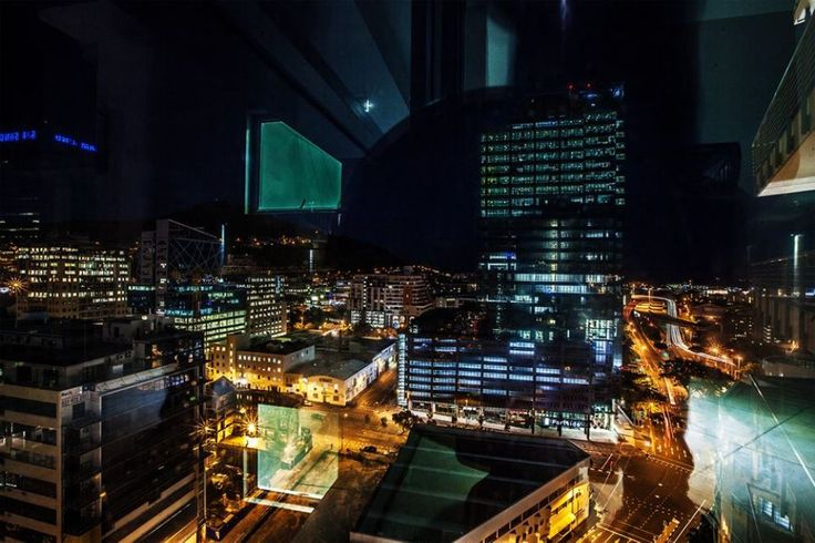 Cape Town City Nite View by Jfunk