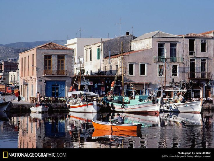 Rethimnon Port, Crete, Greece, 1979.