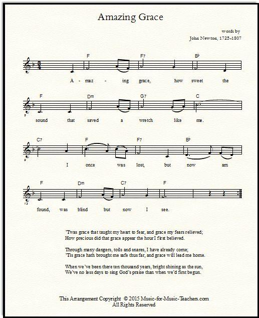 Amazing Grace Lyrics And Sheet Music: Best 25+ Amazing Grace Guitar Chords Ideas On Pinterest