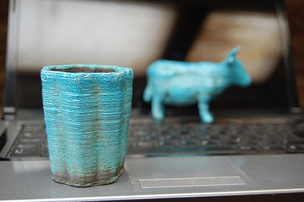 3D printed Egyptian paste