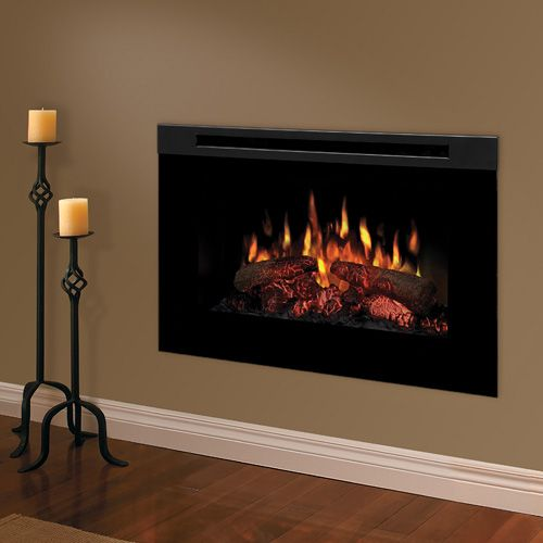 dimplex linear electric fireplace its in the wall great for living room or bathroom yes i want a fireplace in the bathroom