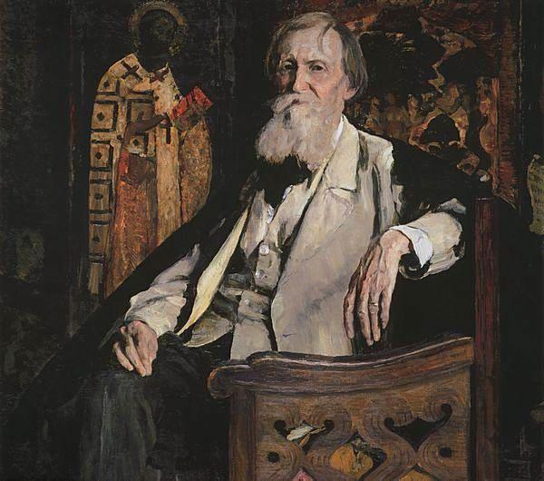 Retrato de Victor Vasnetsov (Портрет V. M. Васнецова, 1926) Mijaíl Vasílievich Nésterov (Михаил Васильевич Нестеров. Unión Soviética. Rusia, 1862-1942)