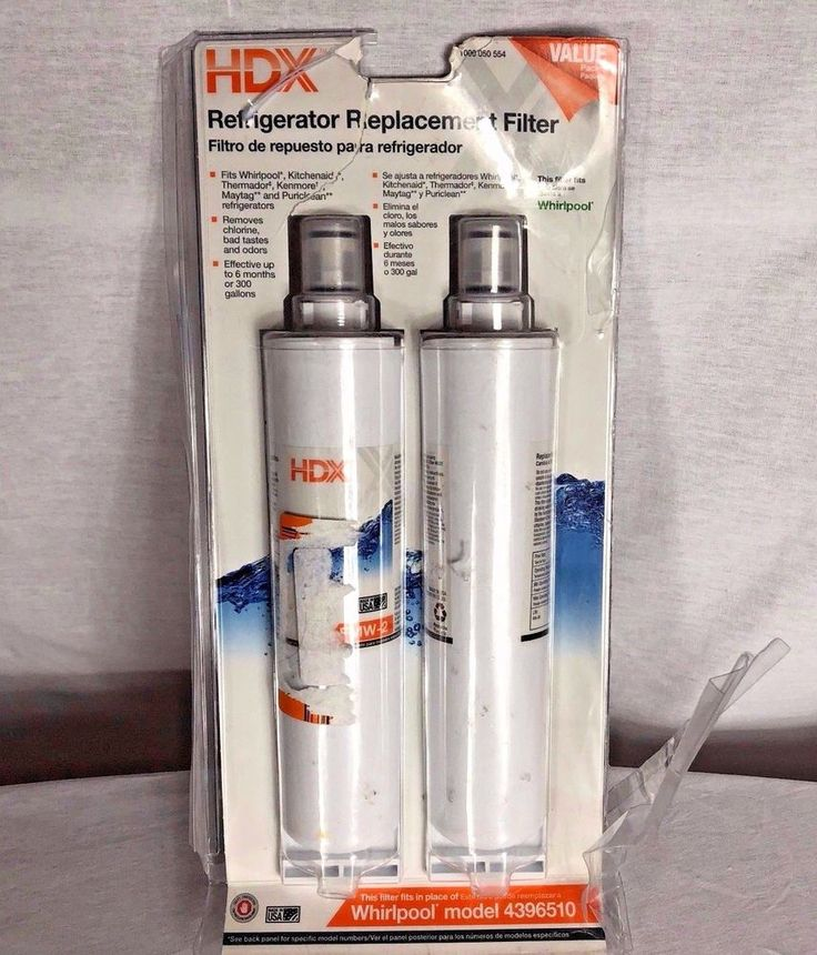 HDX New FMW-3 Refrigerator Replacement Filters Fits Whirlpool Filter 6 Pkg 2  #HDX Listed 11.14.17