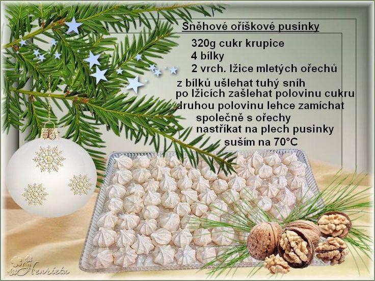 Sněhové ořechové pusinky