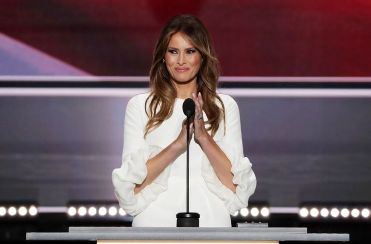 The $2190 White Dress Melania Trump Wore to the Republic National Convention Sold Out in an Hour #news #fashion