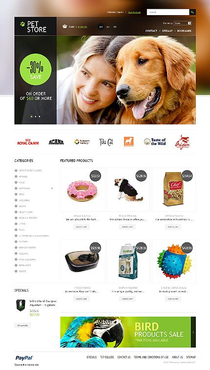 Pet Store PrestaShop Theme #website http://www.templatemonster.com/prestashop-themes/43977.html?utm_source=pinterest&utm_medium=timeline&utm_campaign=pet