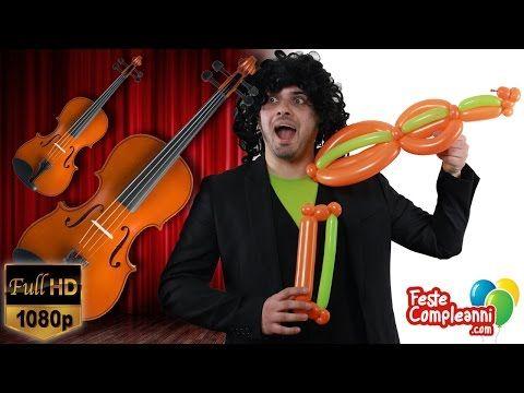 Palloncini Modellabili - Il Violino Balloon Art - Tutorial 148 - Feste Compleanni - YouTube Balloon Art Palloncino Violino - Video tutorial per fare una scultura con palloncini a forma di violino. Una uova idea per allestire la vostra stanza delle feste o il vostro locale con il tema della musica con i palloncini modellabili. Nel video tutorial di oggi vi spiegheremo come realizzare un violino.