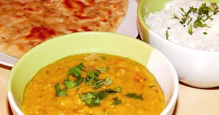 Indický dál (dhal) - červená čočka po indicku, veganský recept