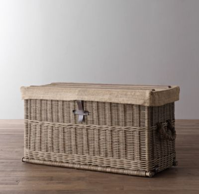 Bryce Wicker Trunk Benches Trunks Restoration Hardware Baby Child