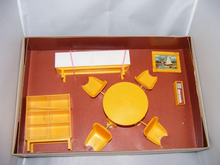 Alte Möbel Esszimmer 70er Jahre Puppenhaus Puppenstube OVP Flair Line 1:12