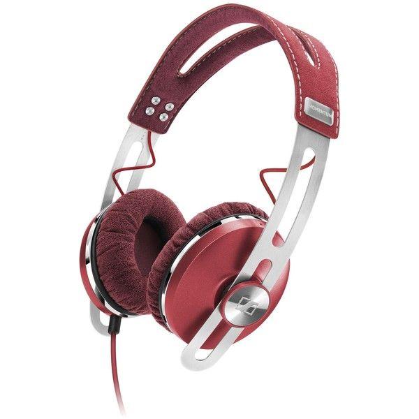 Sennheiser Headphone ($320) ❤ liked on Polyvore featuring accessories, tech accessories, headphone, red, sennheiser, sennheiser headphones and red headphones