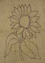 pink jewelry sunflower hooked rug pattern Primitive Style Rug Hooking Patterns  A Great Place To Start