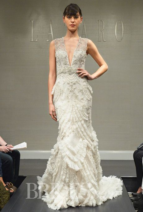 lazaro fall 2014 wedding gowns