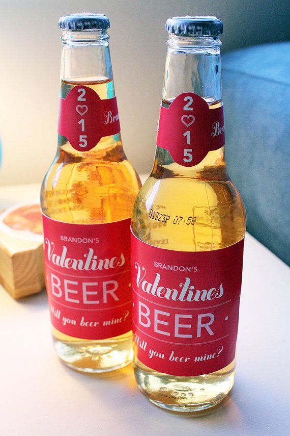 Personalized Custom-Made Valentines Day Beer by LoveIsFun365