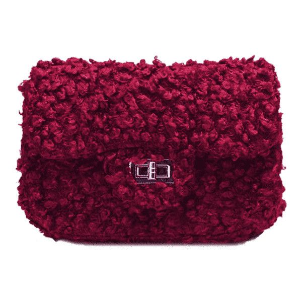 Hasp Faux Fur Chain Crossbody Bag Red (98 BRL) ❤ liked on Polyvore featuring bags, handbags, shoulder bags, zaful, red handbags, crossbody chain purse, chain crossbody, purple crossbody and red crossbody handbags