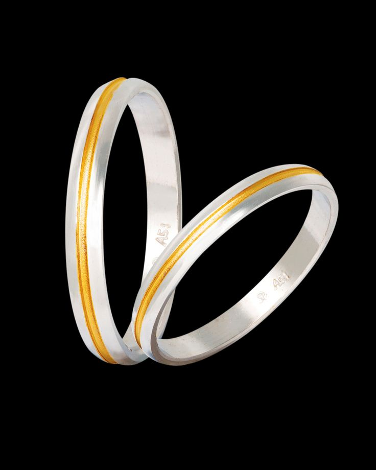 Βέρες γάμου δίχρωμες χρυσός & λευκόχρυσος 9Κ-14Κ-18Κ