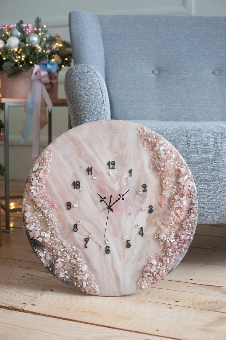 20 Epoxy Watch Housewarming Gift Farmhouse Wall Clock Art