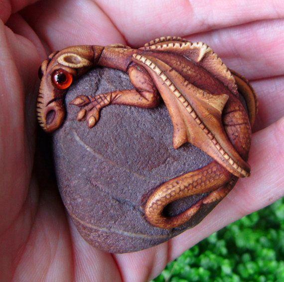 Dragon on a rock: