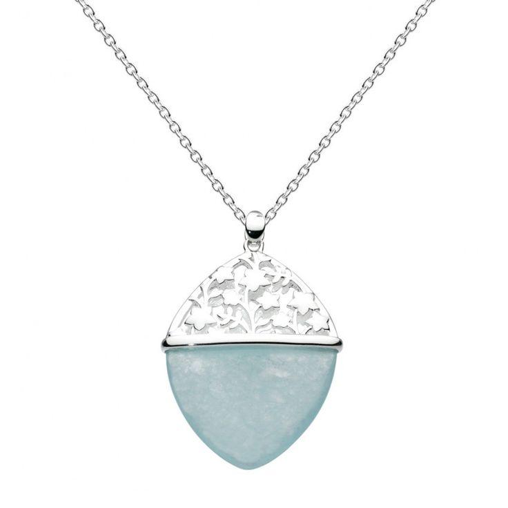 Aster Blue Jade Necklace