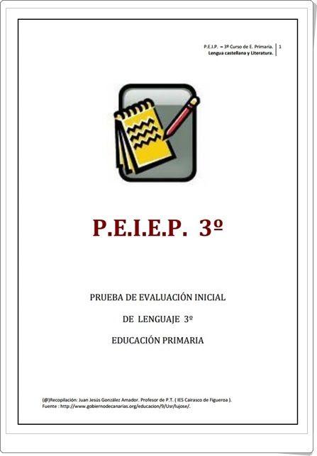 Prueba de Evaluación Inicial de Lengua Española de 3º de Primaria (IES Cairasco de Figueroa de Tamaraceite, Gran Canaria)