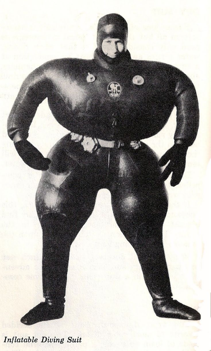 Inflatable diving suit, featured in Diving For Fun by Joe Strykowski, 1974