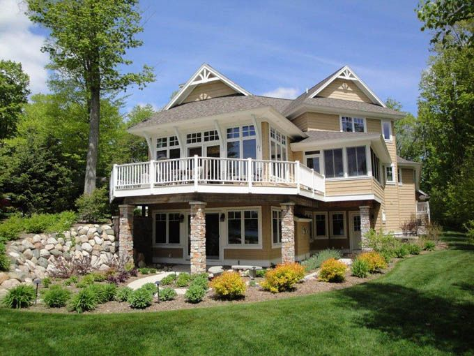 63 best cottages floor plans images on pinterest beach for Custom beach house plans