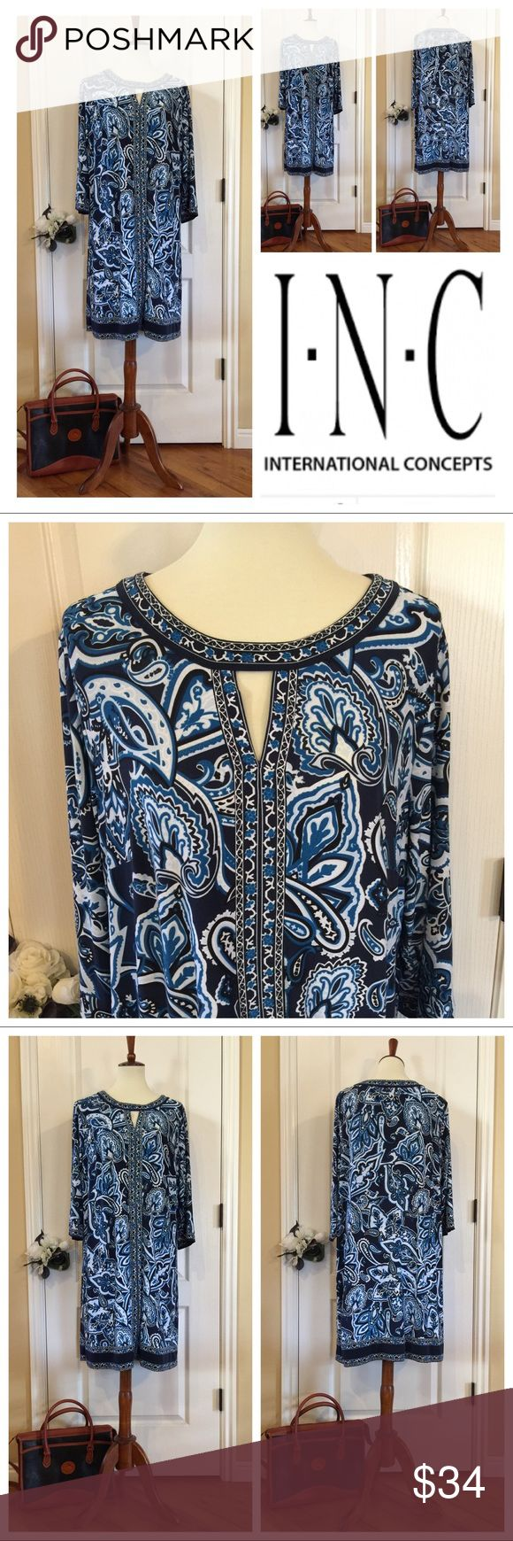 NWOT INC Dress Beautiful NWOT INC Dress. Size 1X. Listing is for the dress only. Will be listing the Dooney & Bourke in a separate listing. INC International Concepts Dresses