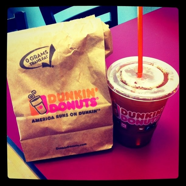 Oh Dunkin Donuts blueberry bagels and blueberry iced coffee... I miss you!