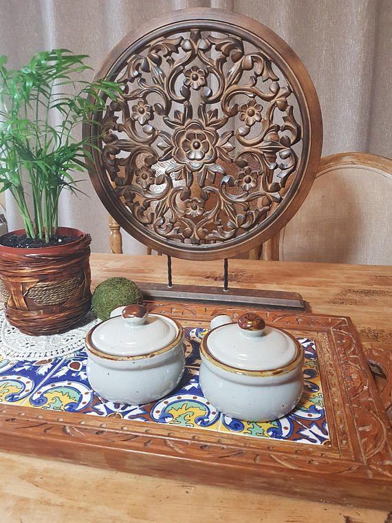 Vintage French onion soup bowls oven baked dish bowls