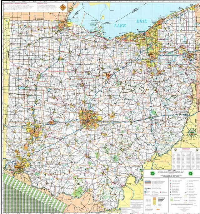Best Cleveland Map Ideas On Pinterest Map Of The Globe - Us map of highways