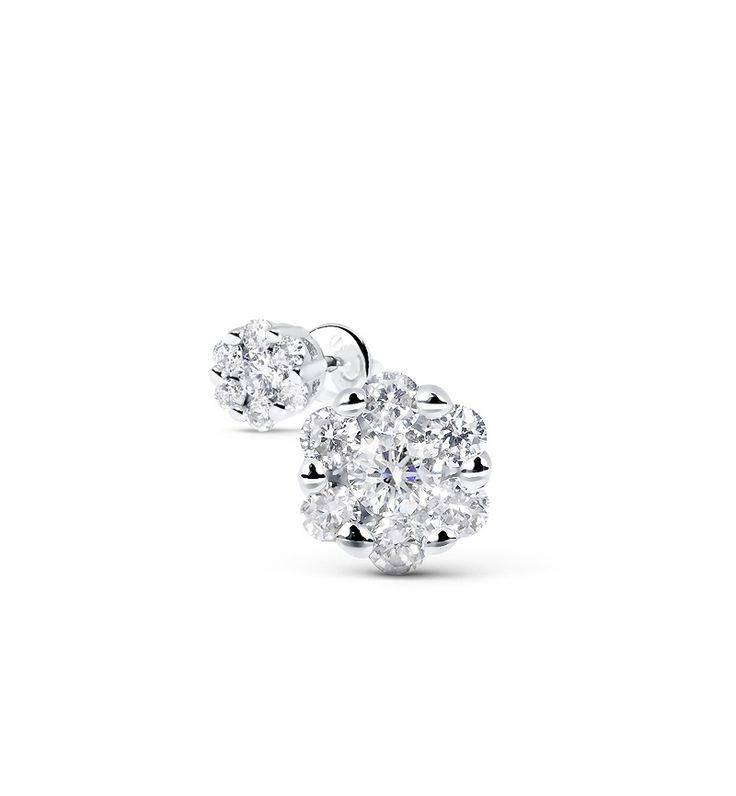 Серьги с бриллиантами  из белого золота, 83323