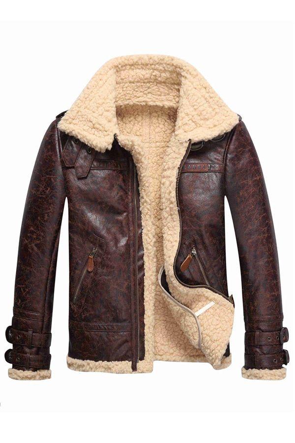 6a53177916b Faux Shearling Thicken Warm Men s PU Coats Jacket Coats  Jacket fashion  winter