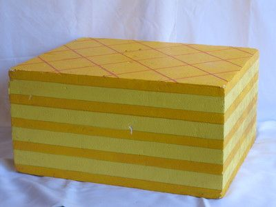 Yellow Wafer Biscuit. 0.5m high. Candy Party! R65 for 4 days to hire.