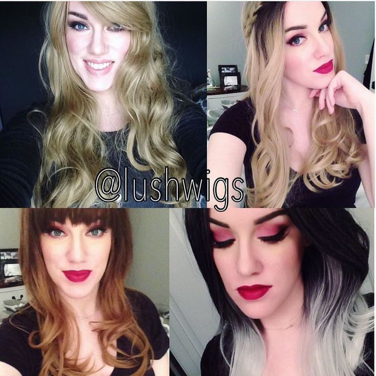 @missh0llywood Made an awesome little montage of her favourite Lush Wigs she has.  #lushwigsblondeheaven #lushwigssilverombre #lushwigsautumnoak #lushwigsfawn  #lushwigs She looks amazing in all.