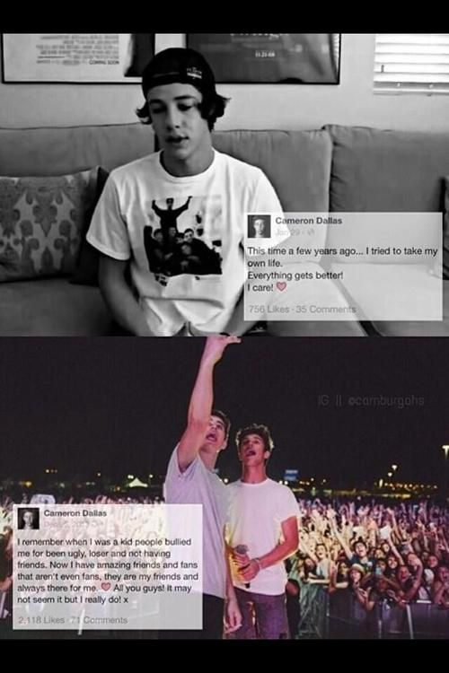 He is my inspiration, he might not know it but he has saved my life once or twice already @ItsCamDallas