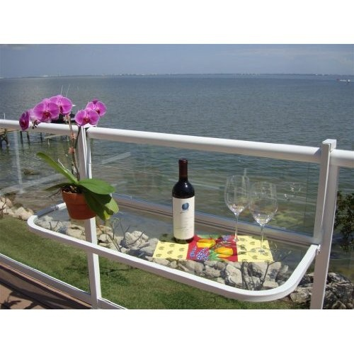 condo balcony furniture. amazoncom terrace table white balcony bar patio furniture condo