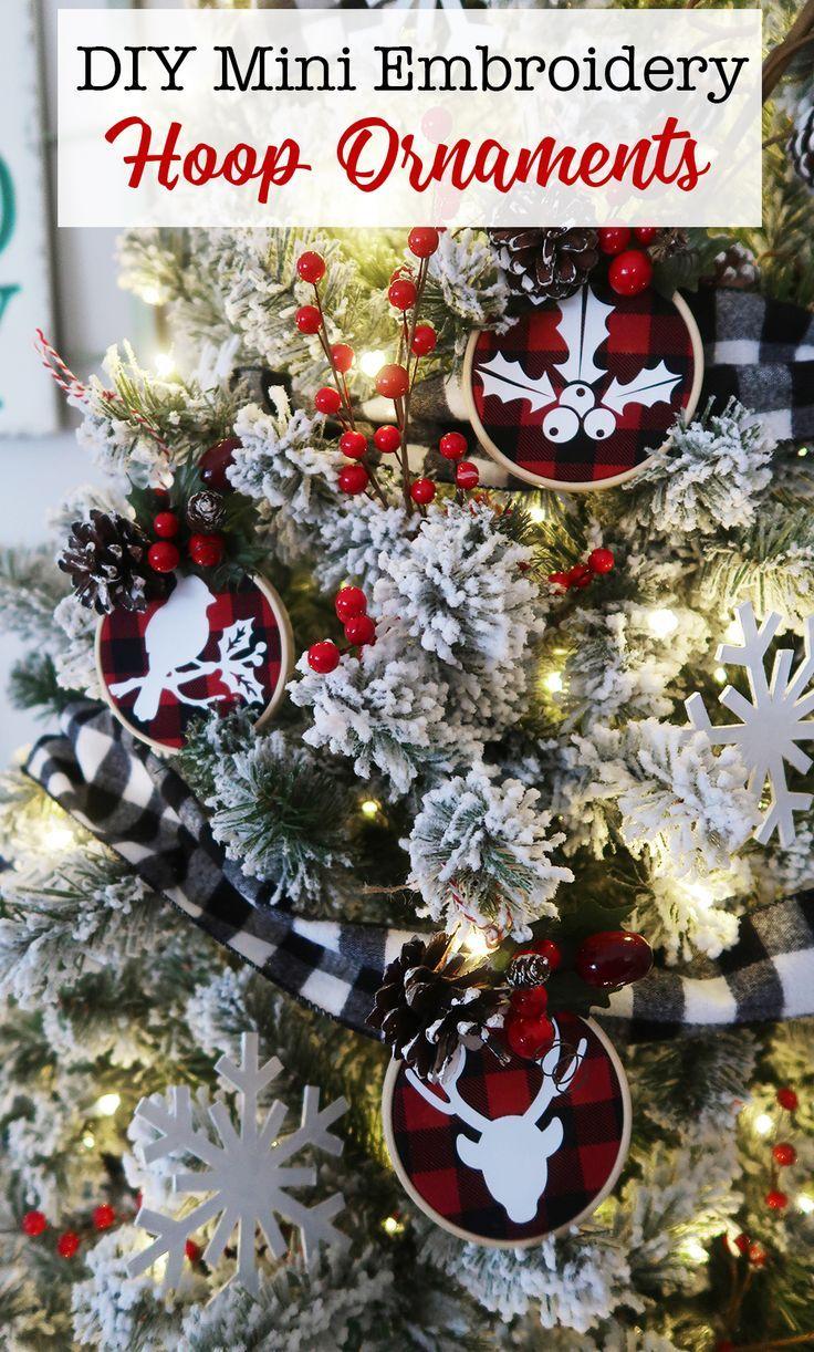 Mini Embroidery Hoop Ornaments Weekend Crafts Diy Mini Embroidery Hoop Christmas Decorations