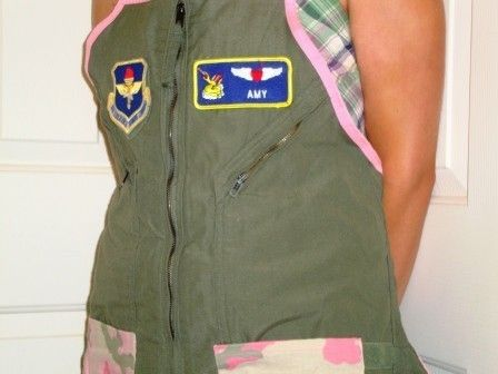 Flightsuit Apron. I may have to create one of these myself.