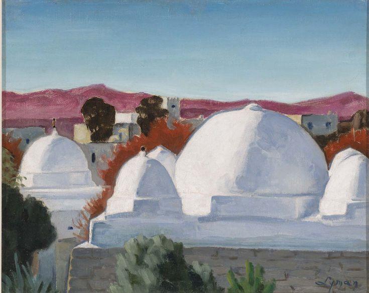 John Lyman, Tombeaux de marabouts au Maroc, entre 1920 et 1929. Huile sur toile maroufleé sur carton. - See more at: https://www.mnbaq.org/blogue/2014/07/09/tombeaux-de-marabouts-au-maroc#sthash.HsUCk8lh.dpuf