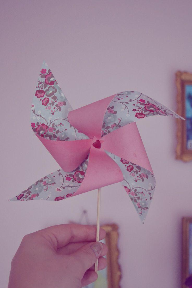 DIY moulin à vent, DIY pinwheel