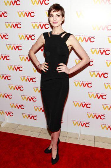 Anne Hathaway in Victoria Beckham - Best-Dressed List: November 16th, 2012