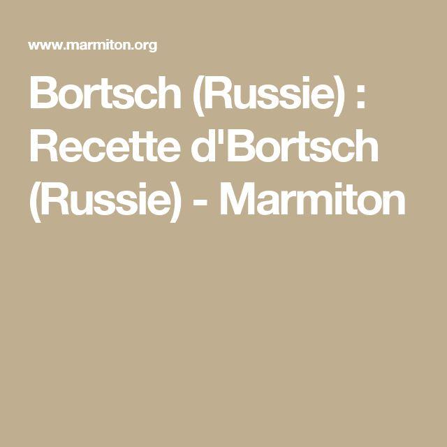 Bortsch (Russie) : Recette d'Bortsch (Russie) - Marmiton
